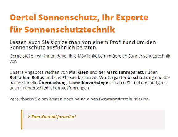 Sonnenschutz und Markisenbau in  Backnang - Strümpfelbach, Stiftsgrundhof, Steinbach, Germannsweiler, Unterschöntal, Ungeheuerhof oder Staigacker, Seehof, Schöntal